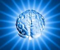 illuminated brain graphic