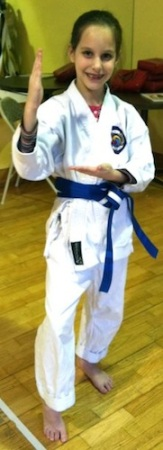 Charlotte at karate