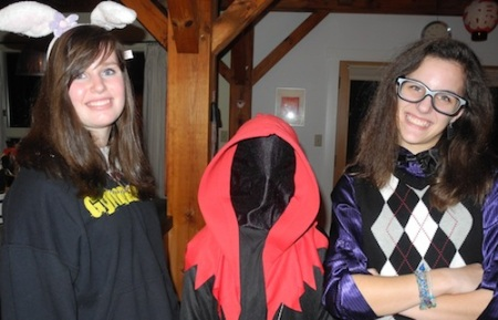 The girls at Halloween