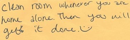 Ellen's note to herself