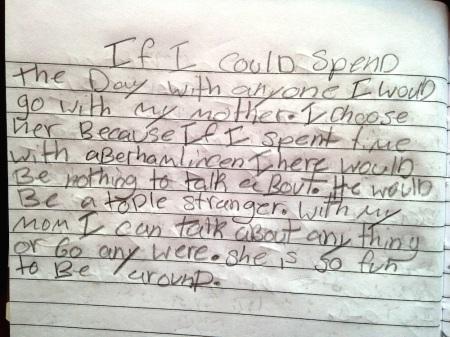 Charlotte's journal entry